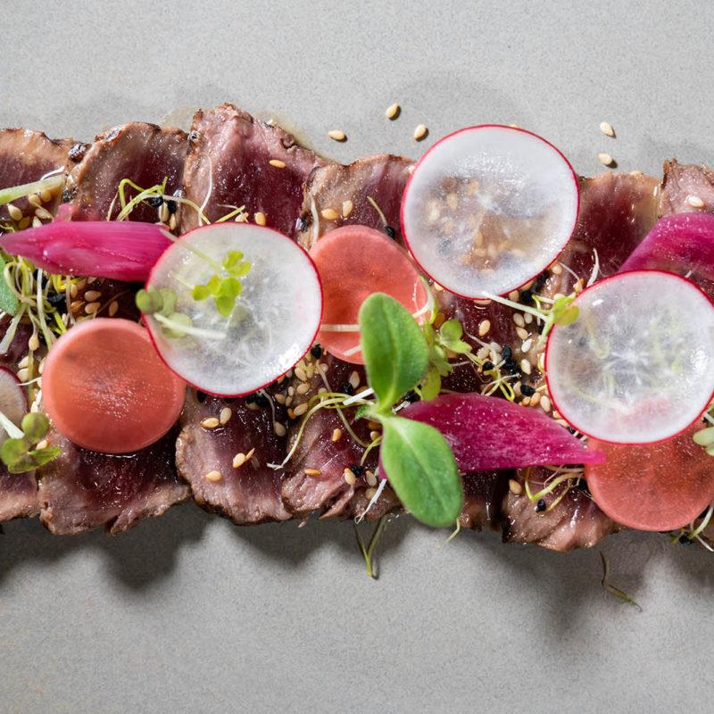 Tataki de Boeuf La Maison Marie Restaurant Lyon